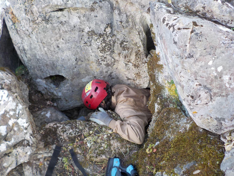 Explorando en las calizas cámbricas de la Sierra de Hornachuelos