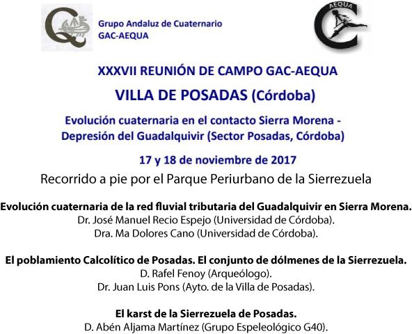 Programa XXXVII Reunión de Campo GAC-AEQUA