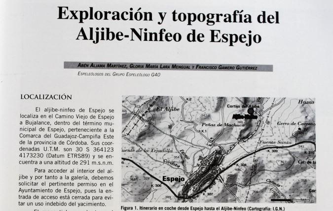 Exploración y topografía del Aljibe-Ninfeo de Espejo