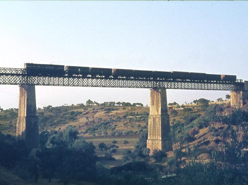 Puente de Hierro sobre el arroyo Pedroche, año 1873