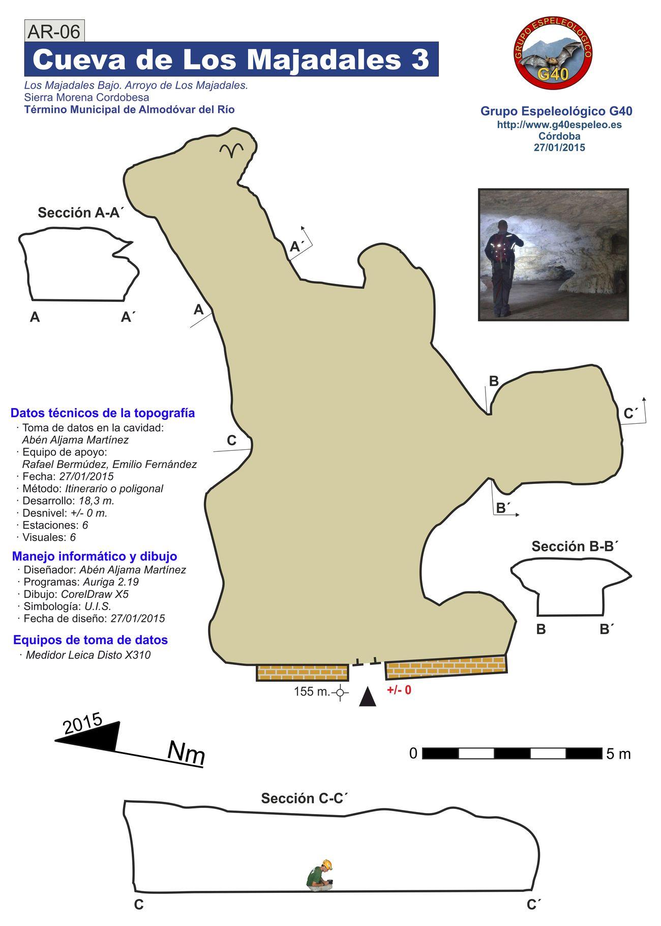 Topografía de la Cueva de Los Majadales 3