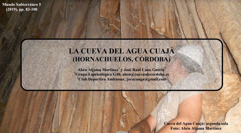 Portada Artículo Cueva del Agua Cuajá