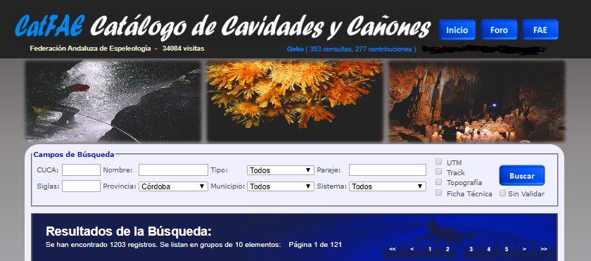 CATFAE - Cuevas de la provincia de Córdoba